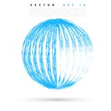 Vector background with colored sphere. Royalty Free Stock Photography
