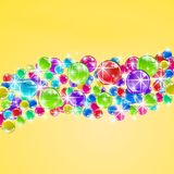 Vector background with colorful bubbles. This is file of EPS10 format Stock Photos
