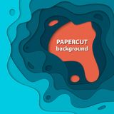 Vector background with colorful paper cut shapes. 3D abstract paper art style, design layout for business presentations, flyers, posters, prints, decoration Royalty Free Stock Photography