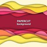 Vector background with colorful paper cut shapes. 3D abstract. Paper art style, design layout for business presentations, flyers, posters, prints, decoration vector illustration