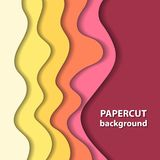 Vector background with colorful paper cut shapes. 3D abstract paper art style, design layout for business presentations, flyers, posters, prints, decoration Stock Images