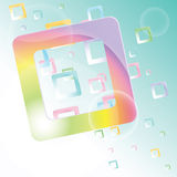 Vector background with colorful squares. Royalty Free Stock Photography
