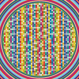 Vector background is of colorful squares. Vector background is of multicolored squares becomes multicolored circles Stock Photo