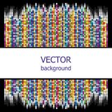 Vector background is of colorful squares. Vector background is of multicolored squares goes to the dark background Royalty Free Stock Photography