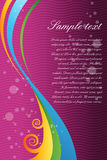 Vector background with colorful swirls. Illustration of abstract background with colorful swirls royalty free illustration