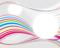Vector background with colourful lines Royalty Free Stock Photos