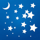 Vector background composition with paper stars Stock Image