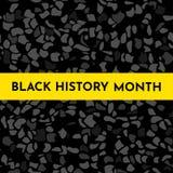Vector background concept for Black history month. Vector illustration background concept for Black history month. Yellow frame for text, black pattern, grunge vector illustration