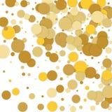 Vector background with confetti. Gold confetti on white backgrou. Background with confetti. Gold confetti on white background Stock Photos