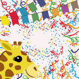 Vector background. Confetti. Vector background for your text. Confetti Stock Photography