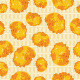Vector background of cornflakes Royalty Free Stock Photo