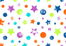 Vector background. Creative geometric colorful pattern with stars and circles. Stock Photos