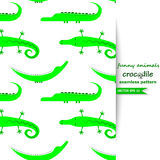 Vector background with crocodiles. Royalty Free Stock Images