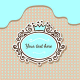 Vector background with crown Stock Images