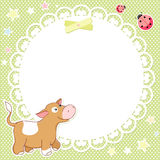 Vector background with cute calf Stock Photo