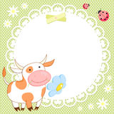Vector background with cute cow Stock Photos