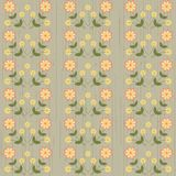 Vector background with cute flowers Royalty Free Stock Images
