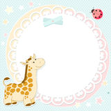 Vector background with cute giraffe Royalty Free Stock Photos
