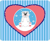 Vector background of a cute polar bear illu Stock Images