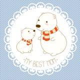 Vector background with cute polar bear Royalty Free Stock Photos