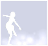 Vector background with a dancer Royalty Free Stock Photography