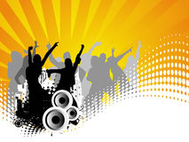 Vector background of dancing people Stock Image