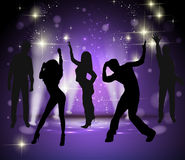 Vector background with dancing people Stock Photo
