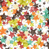 Vector background decorated with texture stars. EPS Royalty Free Stock Images