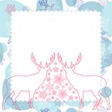 Vector background with deer Royalty Free Stock Photography
