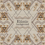 Vector background design. Ethnic tribal geometric pattern. Aztec ornamental style Royalty Free Stock Image
