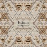Vector background design. Ethnic tribal geometric pattern. Aztec ornamental style Royalty Free Stock Image