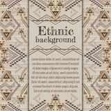 Vector background design. Ethnic tribal geometric pattern. Aztec ornamental style Stock Photos