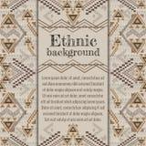 Vector background design. Ethnic tribal geometric pattern. Aztec ornamental style Stock Photos