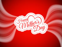 Vector background design for Mother's day. Stock Photo