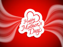 Vector background design for Mother's day. Stock Images