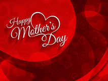 Vector background design for Mother's day. Royalty Free Stock Photos