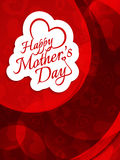 Vector background design for Mother's day. Stock Photography