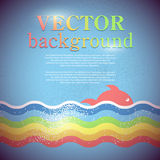 Vector background for design on sea subjects Stock Photography