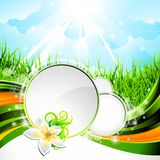 Vector background design on a spring theme Royalty Free Stock Image