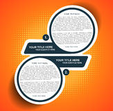 Vector background diagram with two steps Stock Image