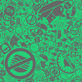 Vector background of the diet icons. Vector background of the flat diet icons Stock Images