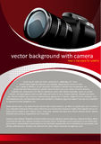 Vector Background with digital camera Royalty Free Stock Images