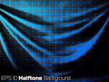 Vector background with distorted dots stock illustration