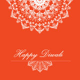 Vector background for Diwali with stylish pattern rangoli design Royalty Free Stock Image