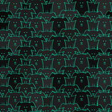 Vector background with dogs Stock Image