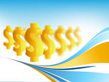 Vector background with  dollars Stock Photography