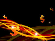 Vector background with  dollars Stock Image