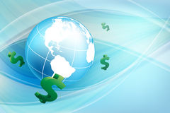 Vector background with  dollars. Eps10 Stock Photography