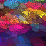 Vector background of doodle drawn lines Royalty Free Stock Images