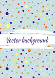Vector background with dots, brush strokes. Creative artistic template for card, layout, cover. Textured dotted template with attr Royalty Free Stock Photography
